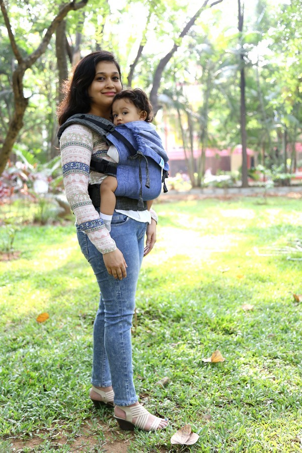 Mochila Soul Lino Toddler Anchor on Black Chambray