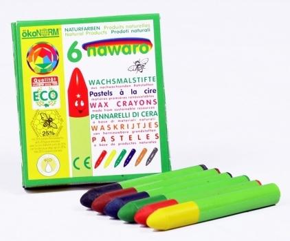 6 crayones de colores naturales Ökonorm