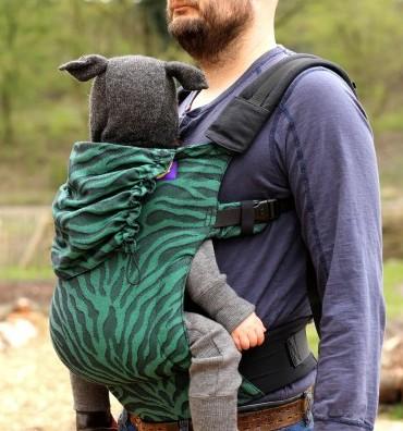 Mochila ergonómica evolutiva Yaro Flex SET Tiger Black Green Toddler