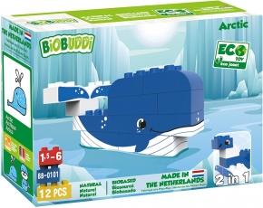 Bloques de construcción Biobuddi 12 piezas Ártico