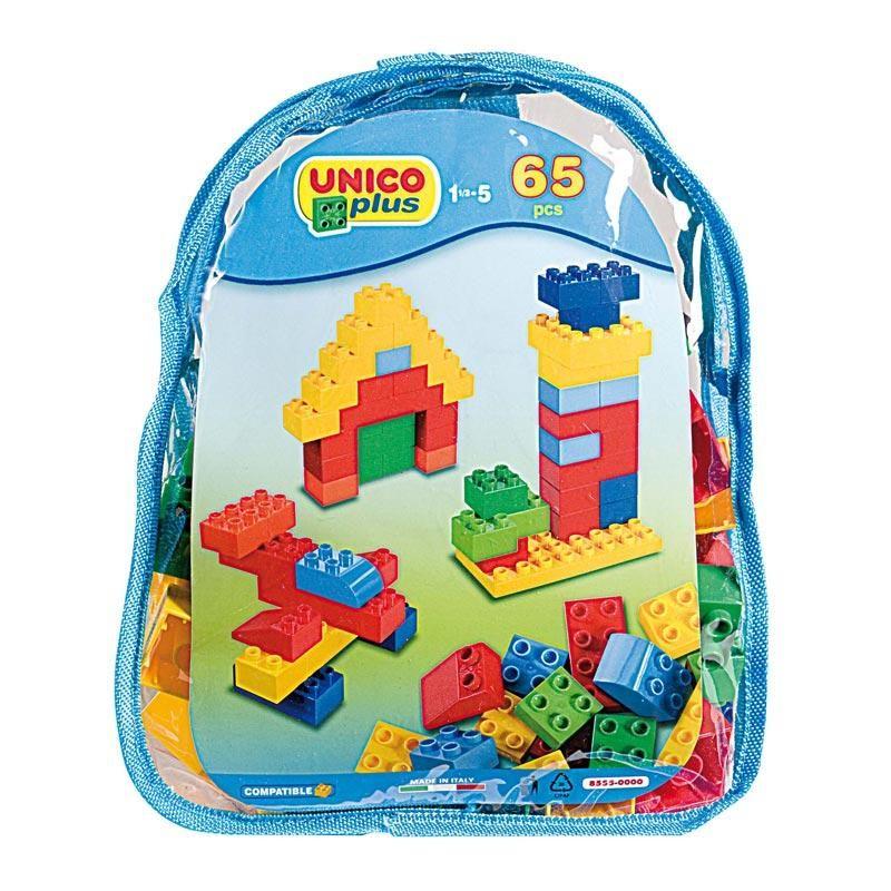 Bloques de construcción Unico Plus 65 piezas mochila