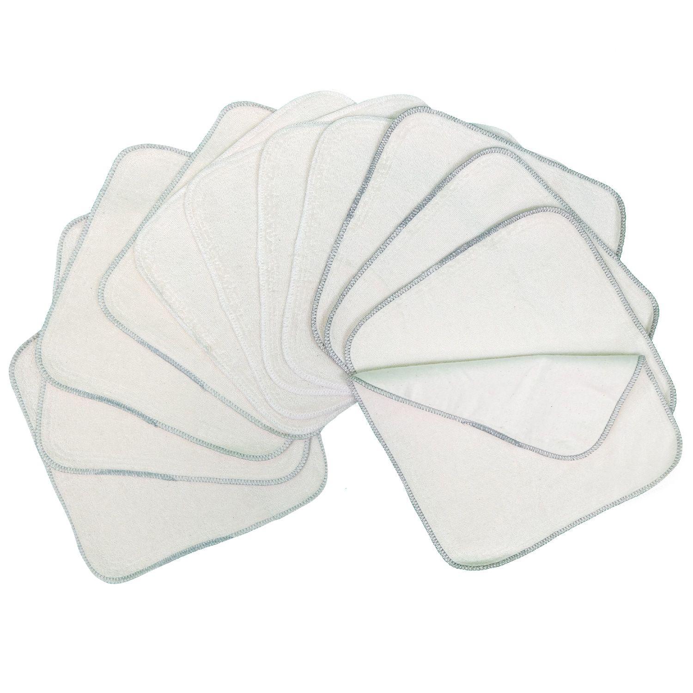 Pack de 12 toallitas lavables de algodón Avo&Cado