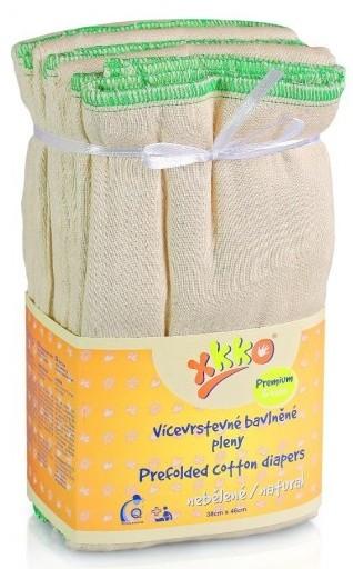 Pack de 6 pañales predoblados de algodón Xkko Talla XL (Premium)