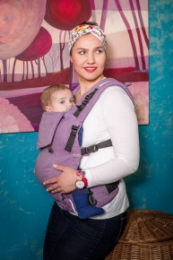 Mochila evolutiva EverySlings EveryAge Spike Violet con lino