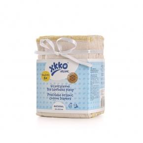 Pack de 6 predoblados Ojo de Perdiz algodón orgánico Xkko Talla S (Newborn)