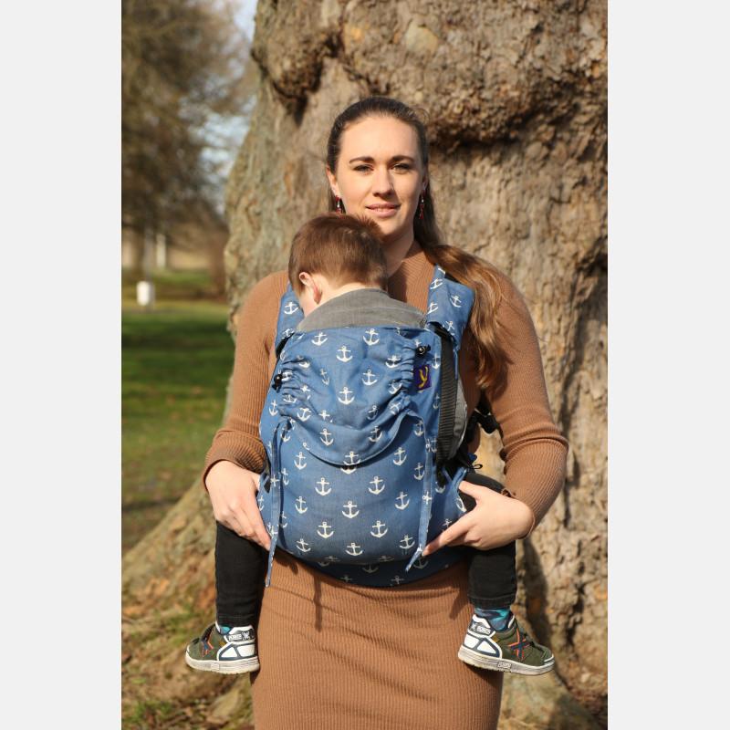 Mochila portabebé evolutiva Yaro Hug Sailor Blue