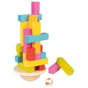 Torre tambaleante de equilibrio