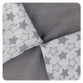 Pack de 9 Muselinas XKKO Bambú Little Stars Silver