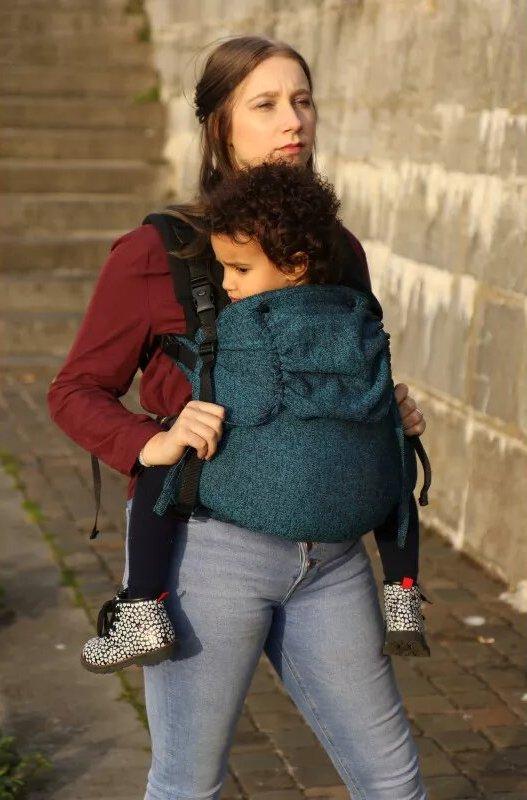 Mochila evolutiva Yaro Flex SET Jeans Blue Black Preschooler