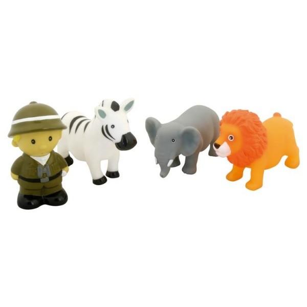 Set de figuras para la bañera safari
