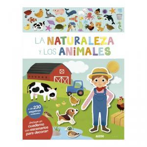 La naturaleza y los animales, libro de pegatinas