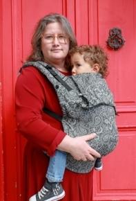 Mochila portabebé evolutiva Neko Switch Toddler Efes Paisley Dark