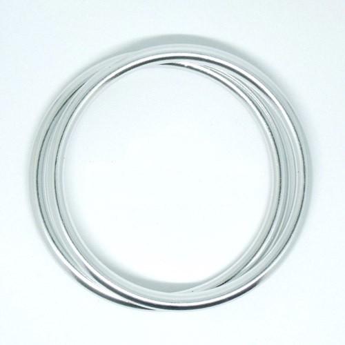 Anillas de aluminio plata brillo