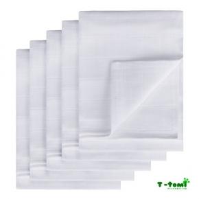 Pack de 5 gasas 100% algodón T-Tomi