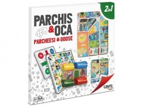 Tablero Parchís - Oca De Madera Con Accesorios