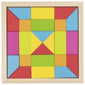 Puzle geométrico de madera arco iris 2