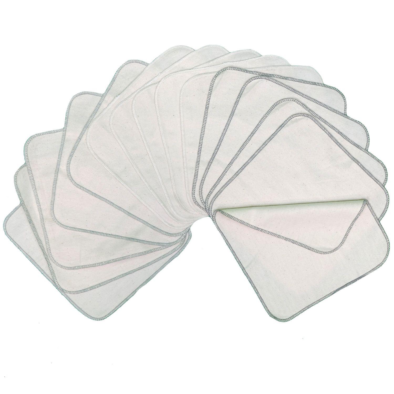Pack de 15 toallitas lavables de franela de algodón Avo&Cado