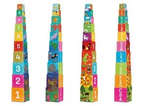 Cubos apilables números y letras