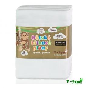 Pack de 10 gasas alto gramaje 100% algodón T-Tomi
