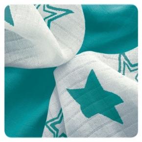 Pack de 9 Muselinas XKKO Bambú Turquoise Stars