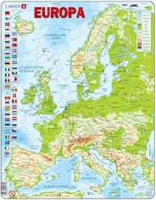 Puzle Larsen Europa física