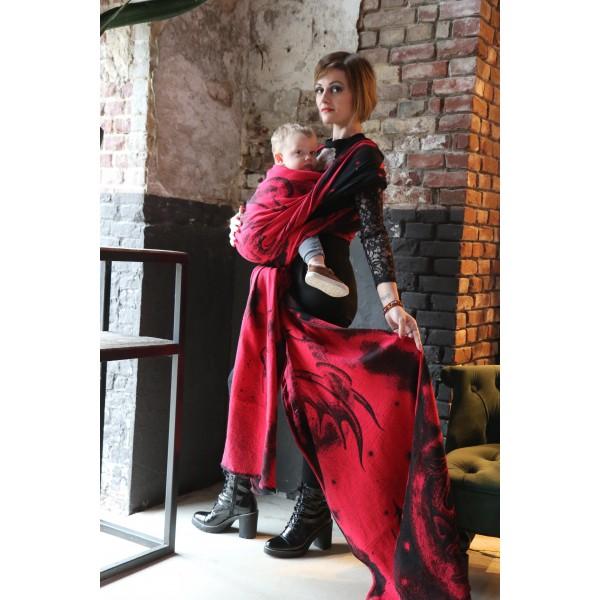 Fular Yaro Moonkeeper Trinity Red Black Modal y Seacell