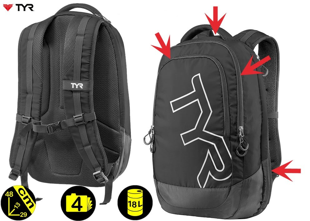 VICTORY BACKPACK NAVY TYR