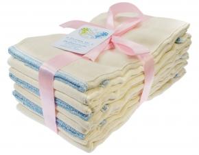Pack de 6 predoblados algodón orgánico Blümchen Talla L (Regular)