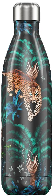 Botella Chilly's Tropical Leopard 750 ml.