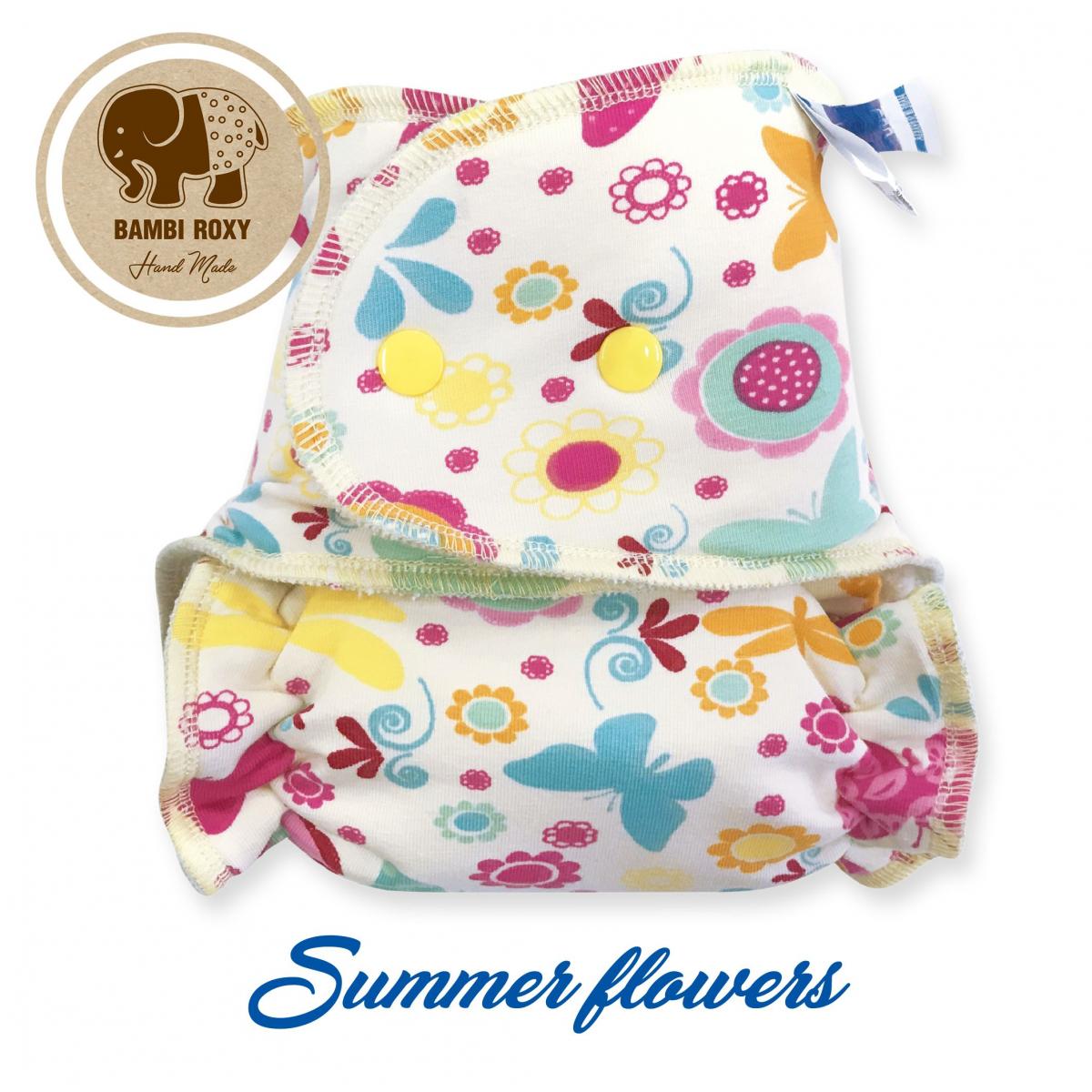 Pañal ajustado unitalla Bambi Roxy Summer Flowers