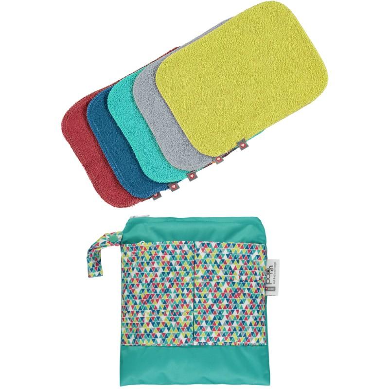 Pack de 10 toallitas de bambú colores vivos 2020 Pop-in