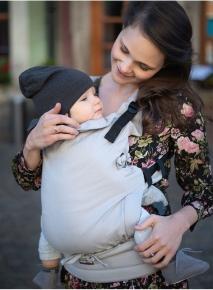 Mochila portabebé evolutiva Kinder Hop Multi Soft Herringbone Ecru