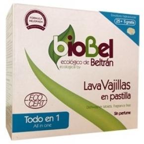 Pastillas lavavajillas Biobel 30 unidades