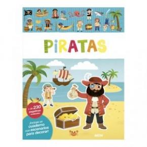 Piratas, libro de pegatinas