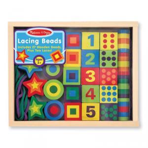 Juego de ensartar números y colores madera